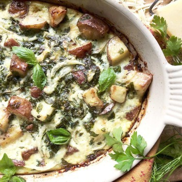 Fennel, Spinach & Gruyere Potato Bake Recipe   SideChef