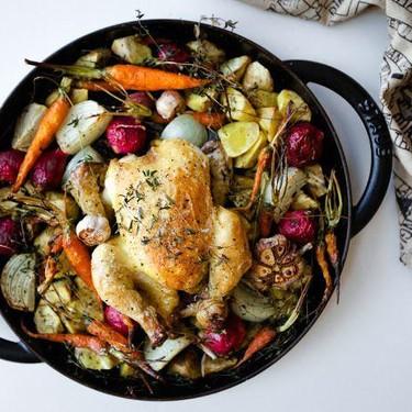 One-Pan Roast Chicken Recipe   SideChef