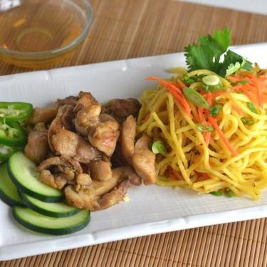 Lemongrass Chicken with Yakisoba Noodles Recipe   SideChef