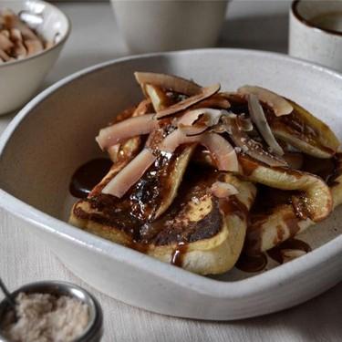 Banana Toffee French Toast Recipe   SideChef