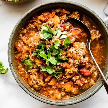 Crock Pot Paleo Sweet Potato Chipotle Chili Recipe | SideChef
