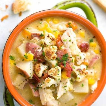 Slow Cooker Cauliflower Corn Chowder Recipe   SideChef