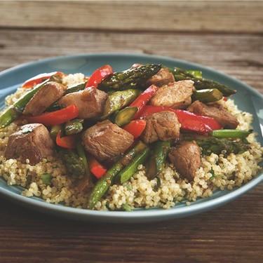 Asparagus, Red Pepper and Pork Stir Fry Recipe | SideChef