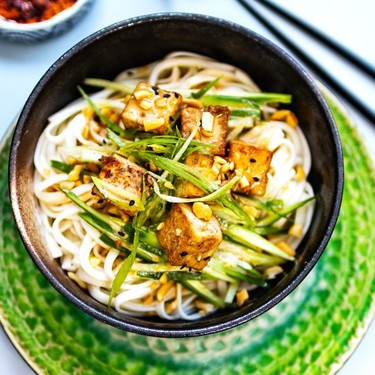Cold Soba Noodles with Tofu and Sesame Sauce Recipe   SideChef