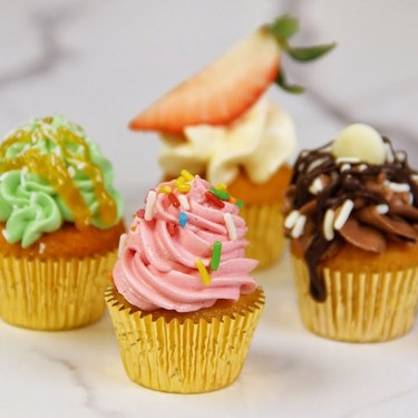 4 Flavor Mini Cupcakes Recipe   SideChef