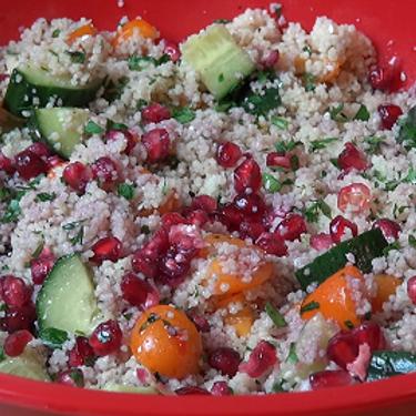 Pomegranate Cous Cous Salad Recipe | SideChef