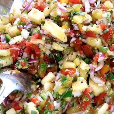 Pineapple Salsa Omelette Recipe   SideChef
