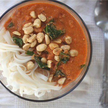 """West African """"Peanut"""" Soup with Tahini Recipe   SideChef"""