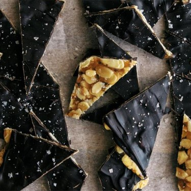 Salted Honey & Almond Toffee with Dark Chocolate Recipe | SideChef