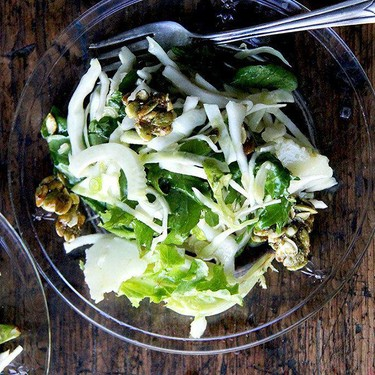 Fall Salad with Cabbage, Manchego, Citrus Vinaigrette, and Candied Pepitas Recipe | SideChef