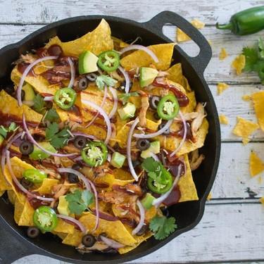 Skillet BBQ Chicken Nachos Recipe | SideChef