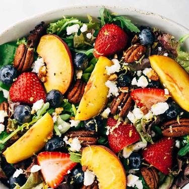 Summer Fruit Salad with Peach Dressing Recipe | SideChef