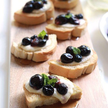 Roasted Grapes with Burrata Cheese Toast Recipe   SideChef