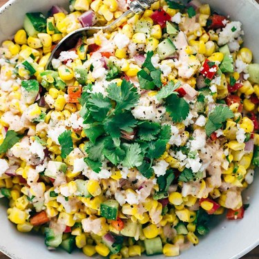 Mexican Street Corn Salad with Chipotle Dressing Recipe   SideChef