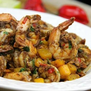 Stovetop Mango Jerk Shrimp Recipe | SideChef
