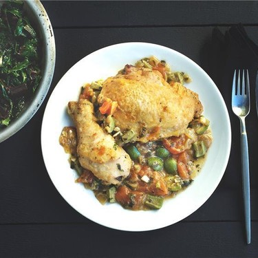 Chicken A La Provencale with Sauteed Swiss Chard Recipe | SideChef