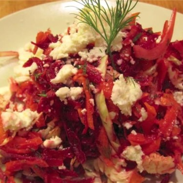 Beet and Carrot Slaw with Dill Dijon Dressing Recipe | SideChef