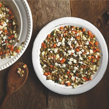 Lentil Salad with Goat Cheese and Mint Recipe | SideChef