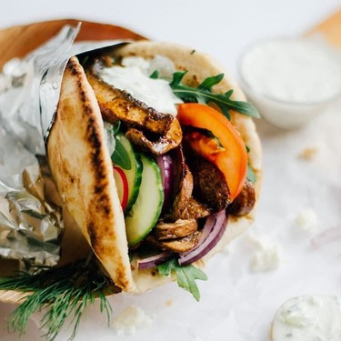 Portobello Mushroom Gyros Recipe   SideChef