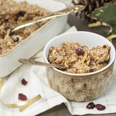 Baked Apple Cranberry Oatmeal Recipe | SideChef