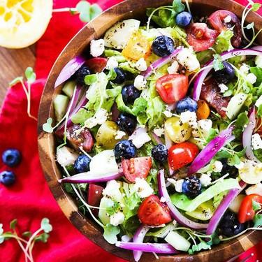 Tomato Cucumber Feta Salad Recipe   SideChef