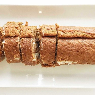 Skinny Carrot Cake Roll with Cream Cheese Filling Recipe | SideChef
