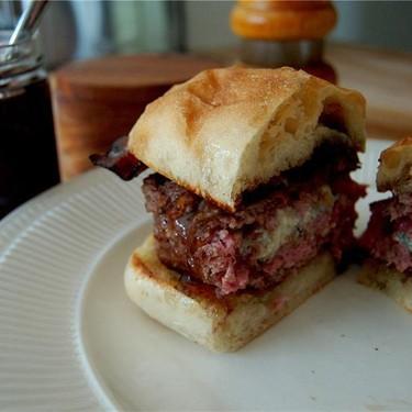 Pub Burger with Pomegranate Spread Recipe | SideChef
