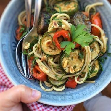 Mediterranean Roasted Vegetables Spaghetti Recipe   SideChef