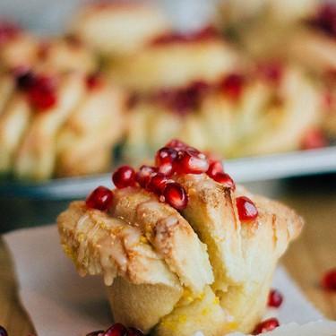 Orange Pomergranate Pull Apart Bread Recipe | SideChef