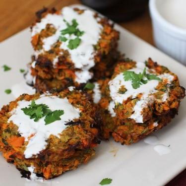 Curried Carrot & Zucchini Fritters Recipe   SideChef