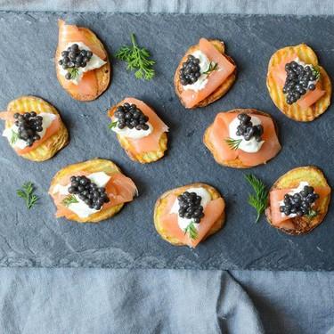 Smoked Salmon and Caviar on Crispy Potatoes Recipe   SideChef
