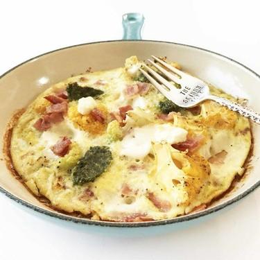 Roasted Cauliflower, Bacon & 3 Cheese Omelettata Recipe   SideChef