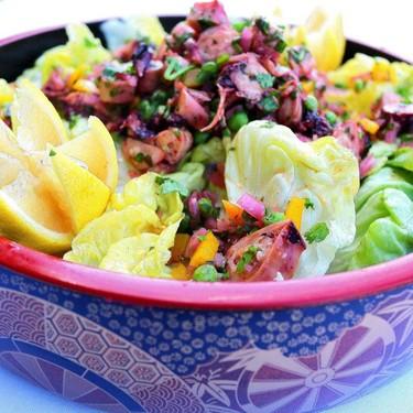 Butter Lettuce & Marinated Octopus Recipe | SideChef