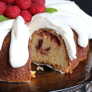 White Chocolate Raspberry Bundt Cake Recipe | SideChef