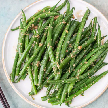 Green Beans with Miso and Sesame Dressing Recipe   SideChef