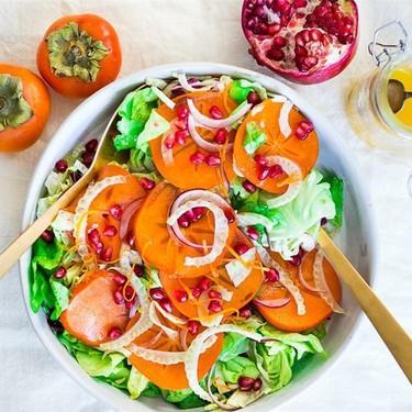 Persimmon Fennel Pomegranate Salad Recipe   SideChef