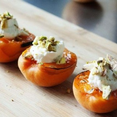 Glazed Apricots with Ricotta and Pistachios Recipe   SideChef