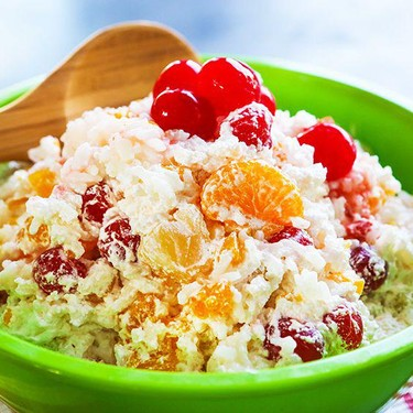 Tropical Fruit and Rice Salad Recipe | SideChef