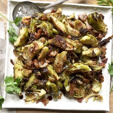 Balsamic Roasted Brussels Sprouts Recipe   SideChef