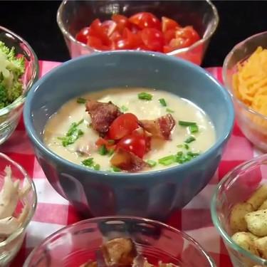 Slow Cooker Bacon Potato Chowder Recipe | SideChef