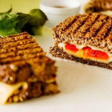 Roasted Pepper & Gouda Grilled Cheese Recipe   SideChef