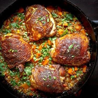 Crispy Berbere Chicken with Ethiopian Lentils Recipe   SideChef