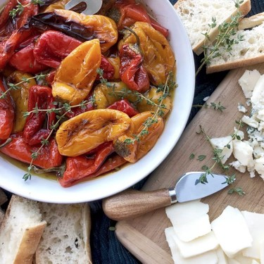 Balsamic Roasted Mini Peppers Recipe | SideChef