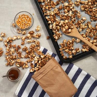30-Minute Sea Salt Caramel Corn Recipe | SideChef