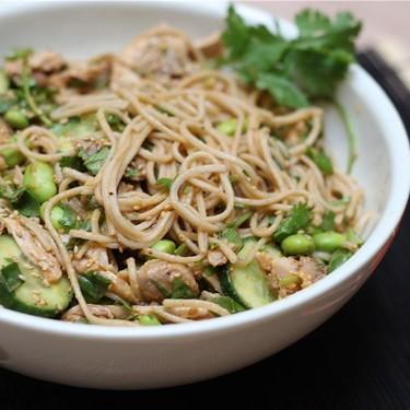 Soba Noodle Chicken Salad & Sesame-Peanut Dressing Recipe   SideChef