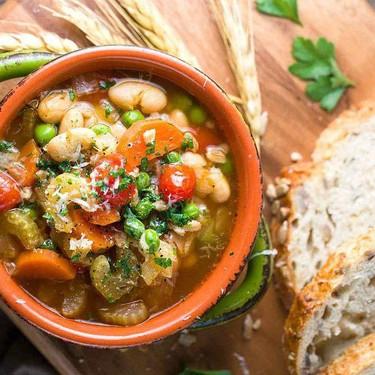 Garden Vegetable Farro Soup Recipe   SideChef