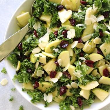 Kale Apple Cranberry Salad with Sesame Dressing Recipe | SideChef