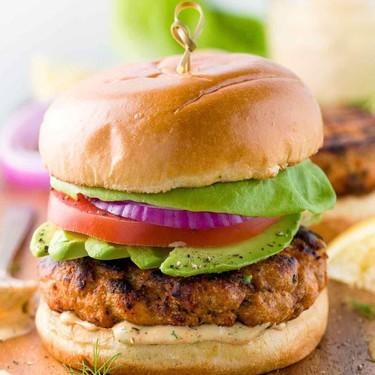 Salmon Burgers with Lemon Dill Sauce Recipe | SideChef