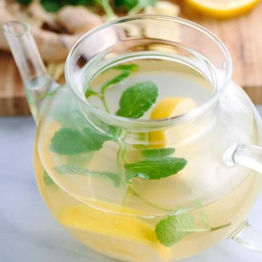 Ginger Root Tea with Lemon and Mint Recipe | SideChef
