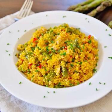 Saffron Quinoa with Asparagus and Tuna Recipe | SideChef